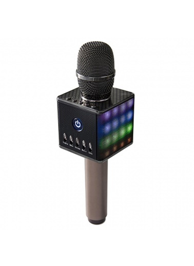 Doppler Karaoke Mikrofon - Ekolayzer Efekt Siyah